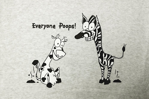 Adult Everyone Poops Orange or Grey Tshirt