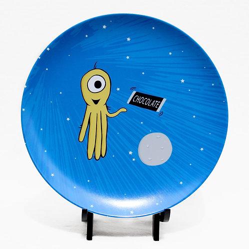 Space Alien Children's Melamine Plate