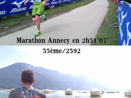 Le rêve du marathon ... (Annecy)