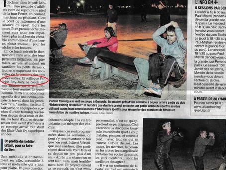 Mon travail de coach UTR récompensé par un article dans le Dauphiné.
