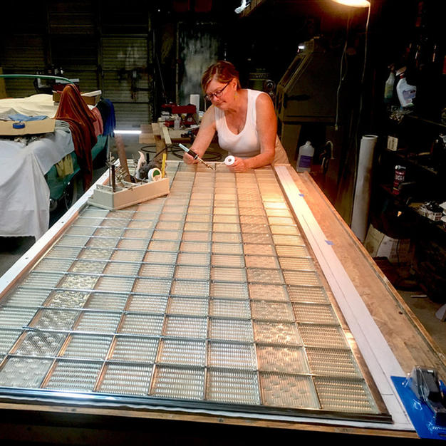 Michaele has extensive experience in the restoration of Luxfer Glass.