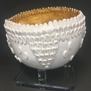 Scolloped Bowl of Gold