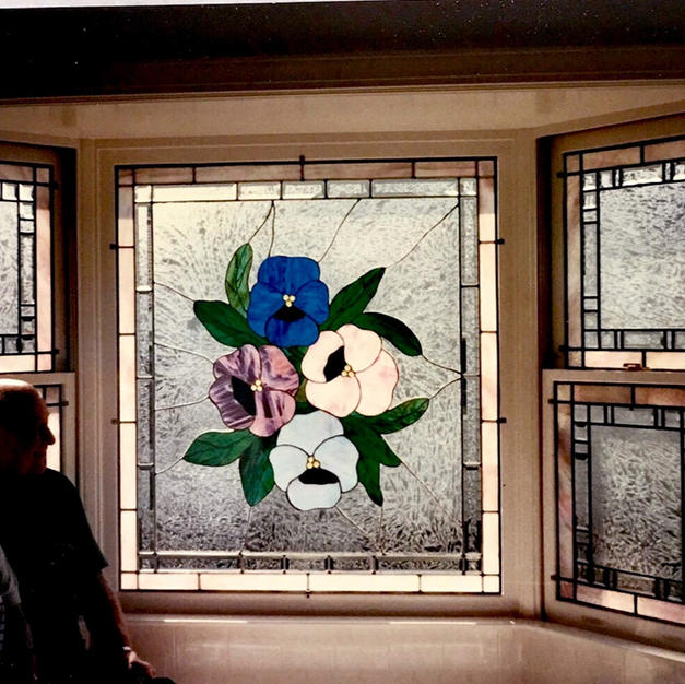Stained Glass Bay Window