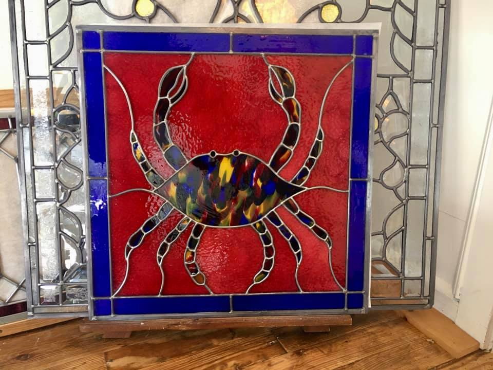 stained glass crab