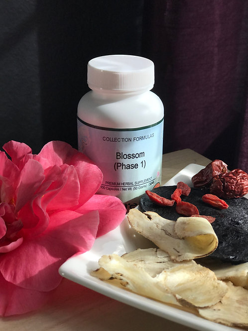 Blossom Phase1-reduce menstrution pain and promo a good flow.