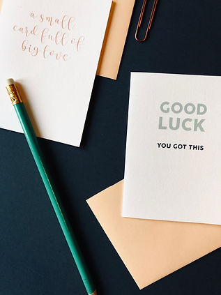 GOOD LUCK CARD WITH TYPOGRAPHY DESIGN COLOUR