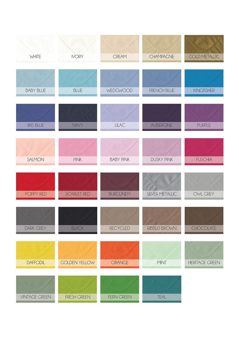 envelopes, colour