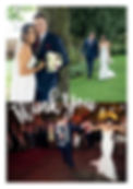wedding thank you card with photo collage design
