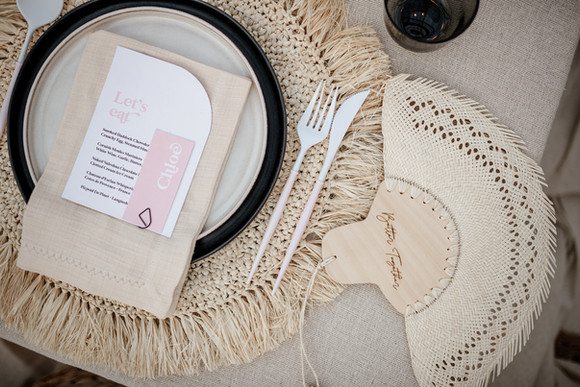 modern, mininal, elegant wedding stationery, invitation, save the date with curved edges and bespoke vellum quote card and neutral colour palette