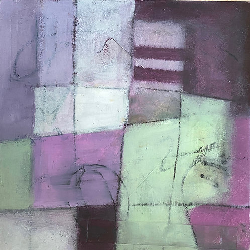 """Violet/Green Patch, image 10"""" x 10"""""""