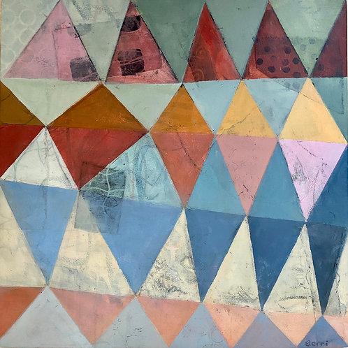 "Triangle Color Study #8, 12"" x 12"""