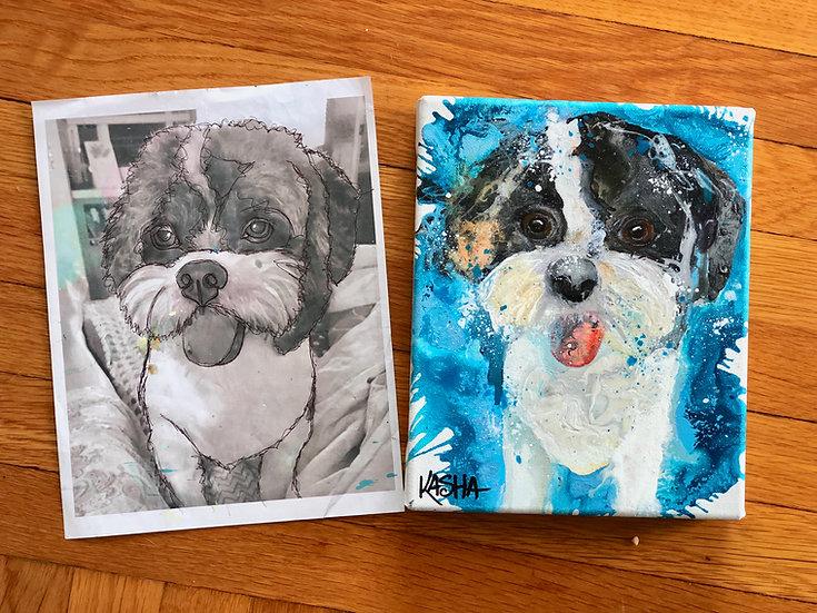 """8""""x10"""" Pet Portrait"""