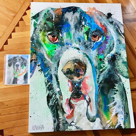 """48""""x60"""" Pet Portrait"""