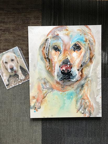 """24""""x36"""" Pet Portrait"""