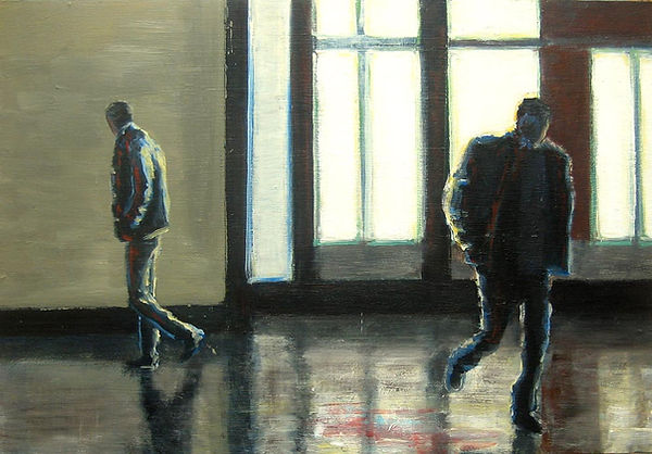 From the series City Lights, 2010, gouache and acrylic on wood panel