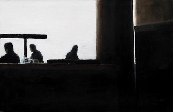From the series Café Talo Helsinki 15.10.2012 11.47 am, oil on canvas, 75 x 100 cm, 2013