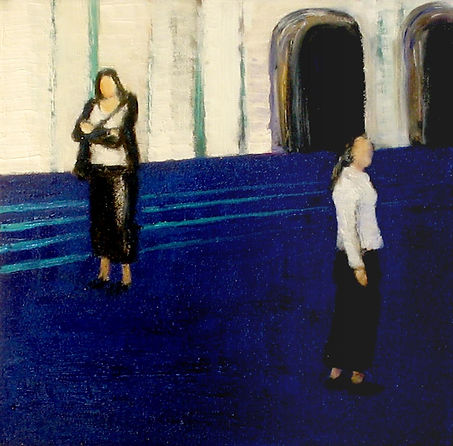 From the series People And Relations, 2008, oil and charcoal on canvas, 30x30cm