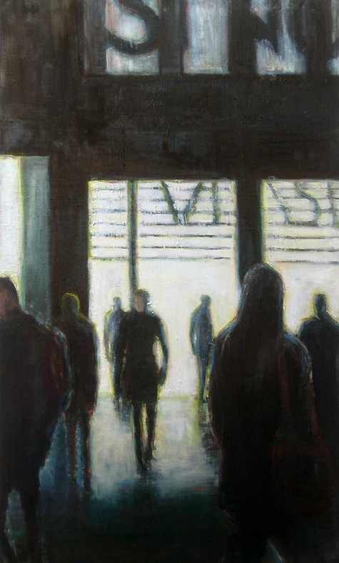 Urban Space, 2011, oil on canvas 148 x 98 cm