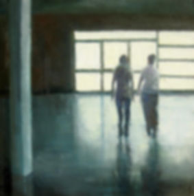 Girls (Conseption of Oneself), 2009, oil on canvas, 40 x 40 cm