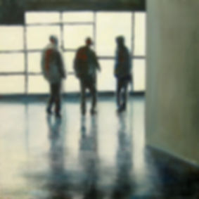 Boys (Open questions), 2009, oil on canvas, 40 x 40 cm