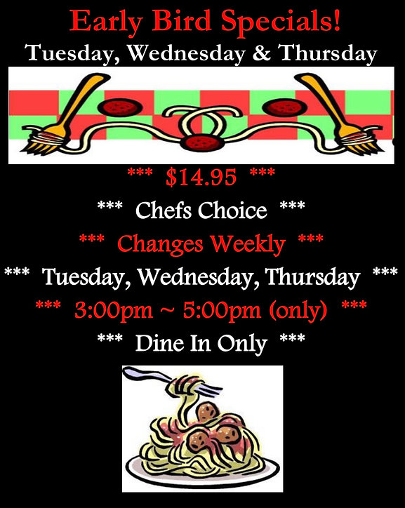 Mario's - Early Bird Specials Ad - 11.09