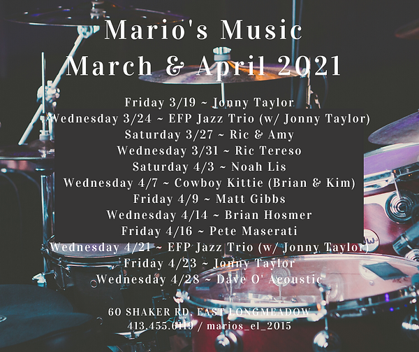 Mario's - March and April Music 2021 FIN