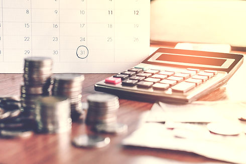 debt collection and tax season concept