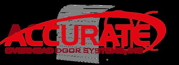 h1 Accurate overhead door system logo, one stop door shop