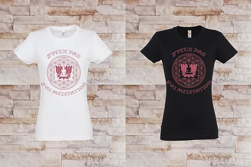 """T-shirt Femme """"J'peux pas j'ai méditation"""""""