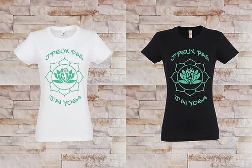 """T-shirt Femme """"J'peux pas j'ai yoga"""""""
