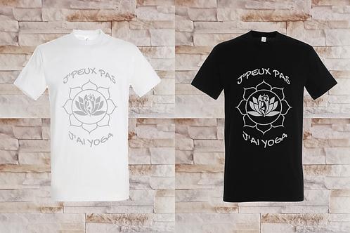 """T-shirt Homme """"J'peux pas j'ai yoga"""""""