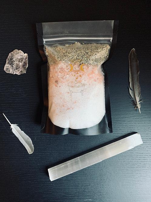 Lavender Bath Salt Bag