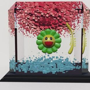 Takashi Murakami Inspired Maya MASH Model