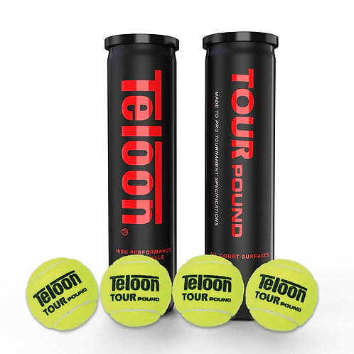 "Tournament Ball - 4 Balls ITF APPROVED ""POUND TOUR""   4 Balls/Tube"