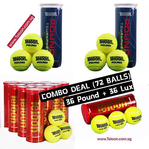 Combo Deal - LUX Q1 (36 Balls/12 Cans) + POUND BLUE P3 (36 Balls/12 Tubes)