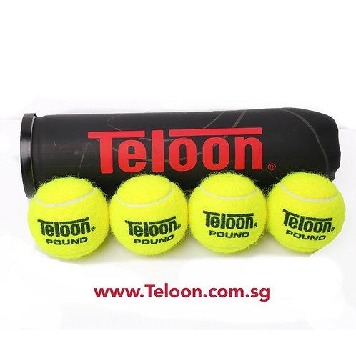 Tournament Ball - 72 Balls ITF APPROVED POUND BLACK P4 | 18 Tubes x 4 Balls/Tube