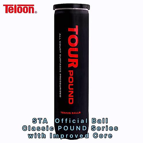 Tournament Ball - 96 Balls ITF APPROVED POUND TOUR P4 | 24 Tubes x 4 Balls/Tube