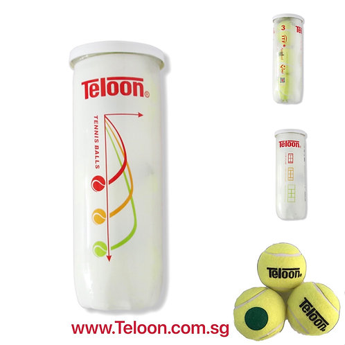 Beginner Ball - 72 Balls ITF APPROVED Stage 1 | GREEN | 24 Tubes x 3 Balls/Tube