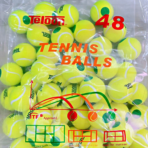 "Beginner Ball - 48 Balls ITF APPROVED Stage 1 ""GREEN"" 