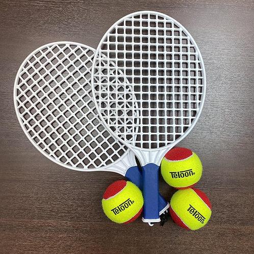 Teloon Tennis Beach Racket (2 pcs) + RED Balls (3 pcs)