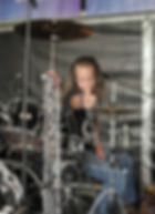 Danny Dragon. Drummer with Electric Circus UK WASP tribute band