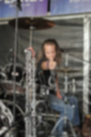 Danny Dragon. Drummer for Electric Circus UK WASP Tribute