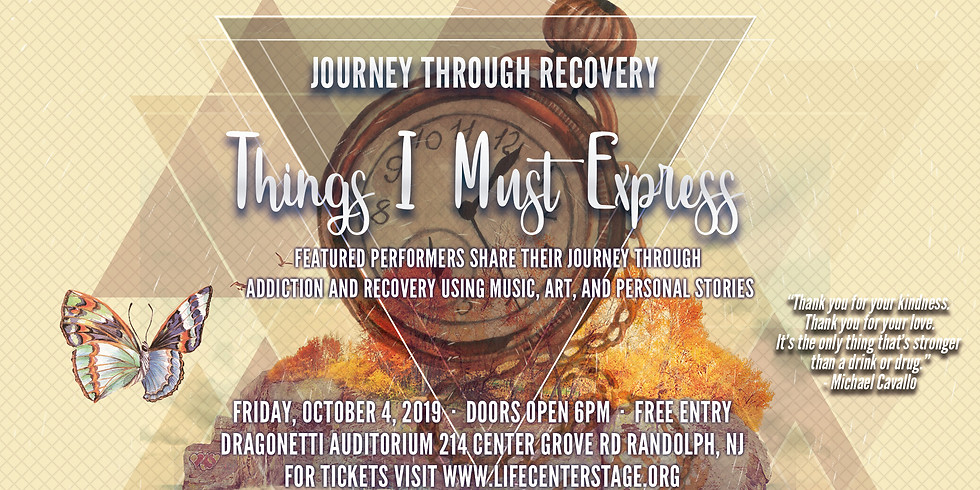 Journey Through Recovery - Things I Must Express - Live Music and Storytelling Event