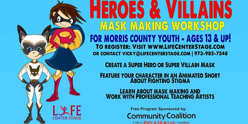 Heroes and Villains Mask Making Workshop (1)