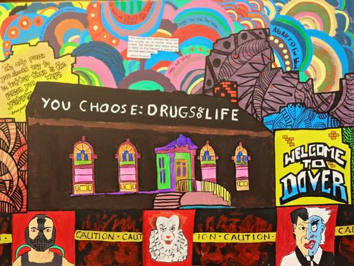 You Choose: Drugs or Life Mural