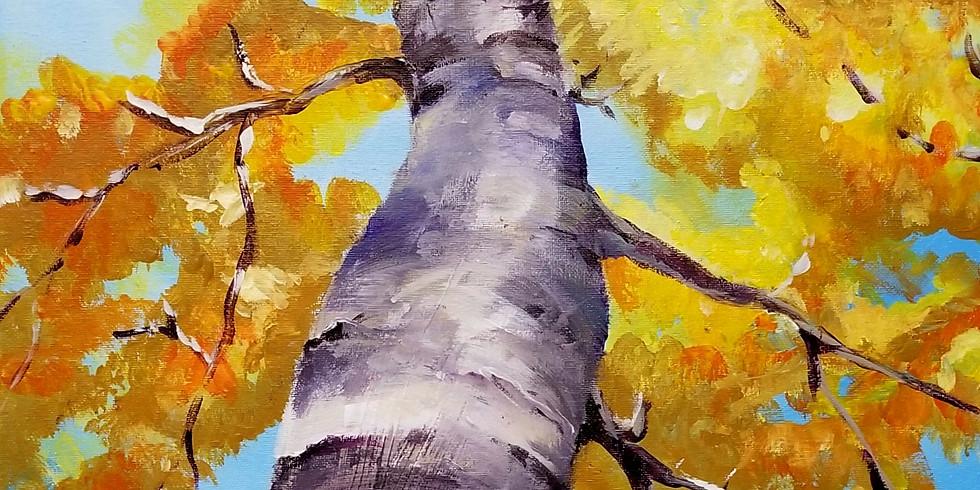 Birch Tree Painting Workshop