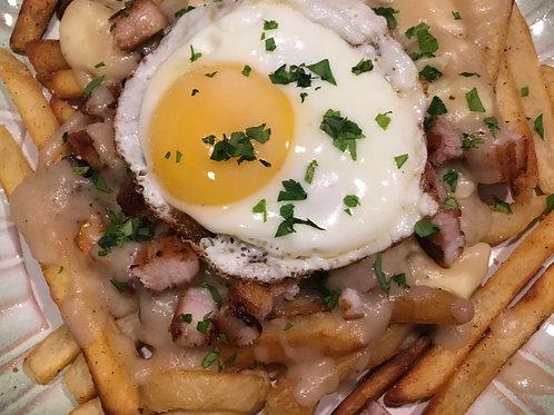 Belly Pork, Egg and Chips