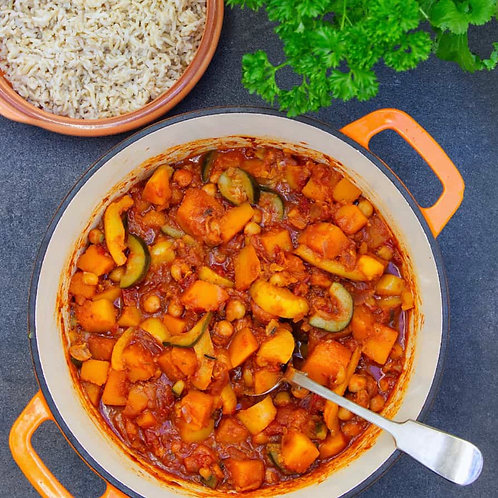 Squash, Red Onion and Cranberry Tagine ( Vegan )