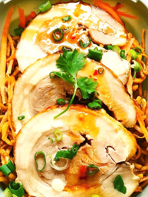 Chilli and Basil Belly Pork Noodles