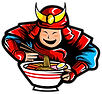 Samurai eating Ramen